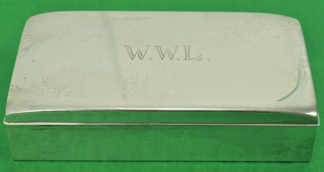 Poole Sterling Engraved W.W.L. Cigarette Case
