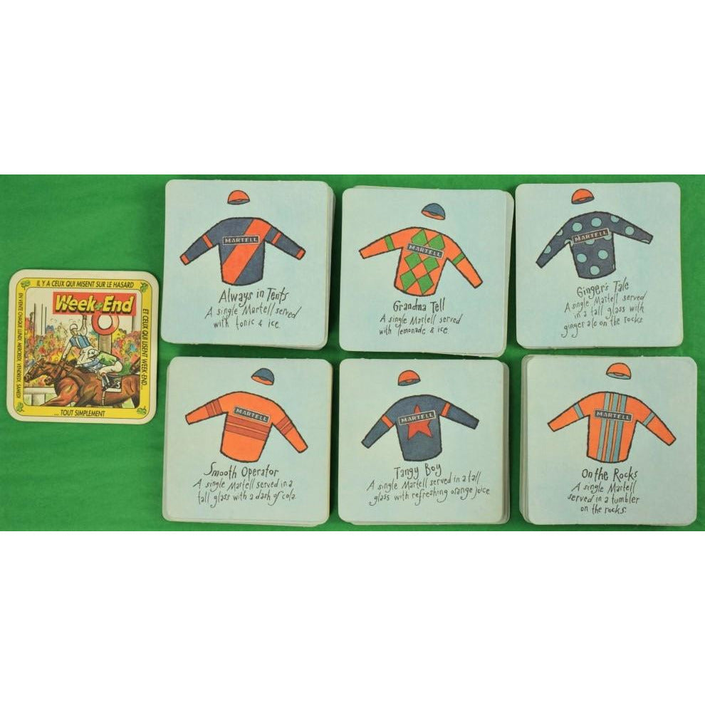 Set of 51 Martell Jockey Silks Cocktail Coasters