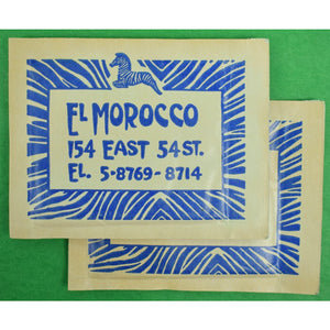 Pair of El Morocco Silk Pocket Squares & Towelettes from The John Perona Estate