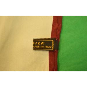 'Hand-Rolled Italian Silk White w/ Burg Trim Pocket Sq'