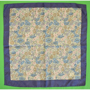 Gent's Liberty of London Blue & Pink Floral Print Pocket Square