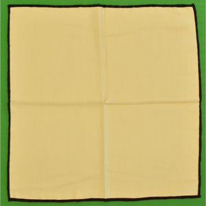 'White Italian Silk Pocket Sq'
