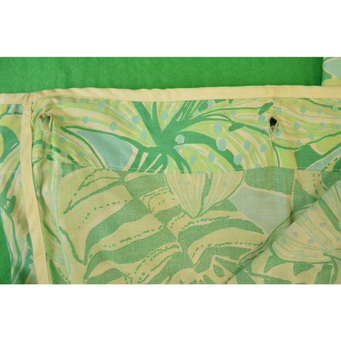 Pair of Lilly Pulitzer Palm Green Floral & Tiger Print Shower Curtains