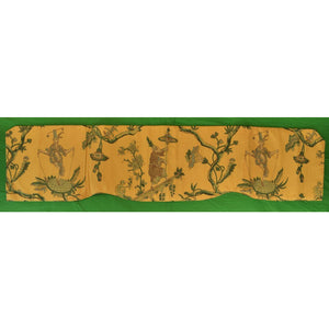 Chinoiserie Glazed Chintz Scallop Valance