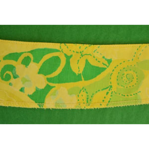 'Lilly Pulitzer c.1960's Lime Green & Yellow Floral Swatch'