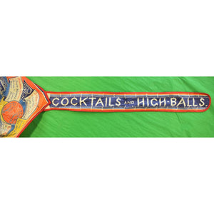 Cocktails Recipes and High-Balls Multicolor Cotton Bartender's Apron