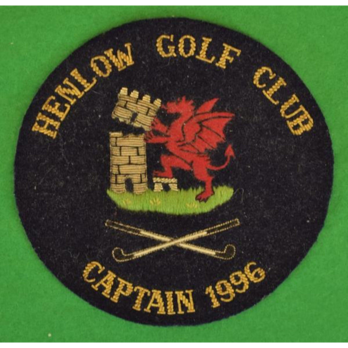 'Henlow (Eng) Golf Club Captain 1996 Blazer Crest'