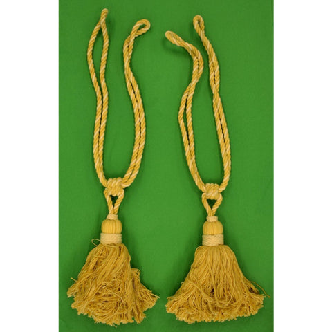 Pair of Rope Twist Curtain Tassels