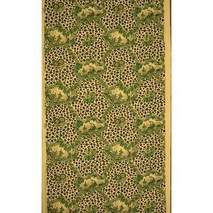 Chic Brunschwig & Fils Chinese Leopard Toile Green Fabric Bolt