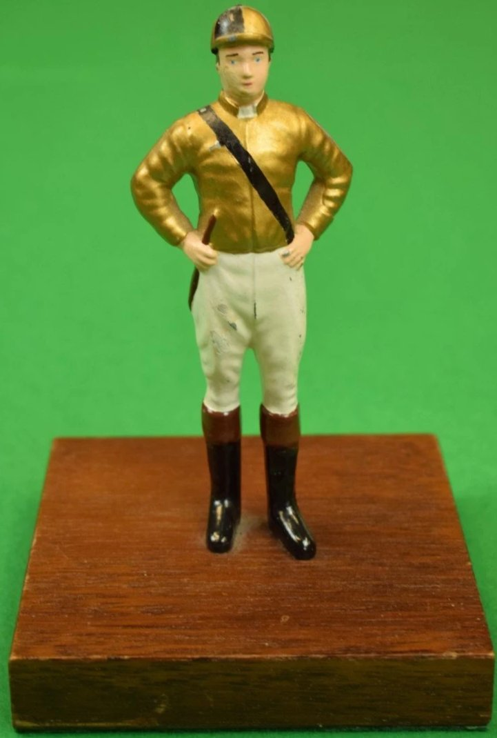 Vintage 21 Club Jockey Paper Weight in Custom Gold Silks