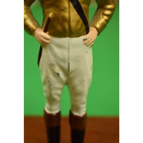 Vintage '21' Club Jockey Paper Weight in Custom Gold Silks""