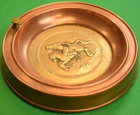Copper Polo Player Ashtray from the Penn Athletic Club Philadelphia