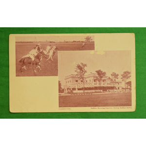 Buffalo Morning Express Country Club Postcard w/ Polo Players