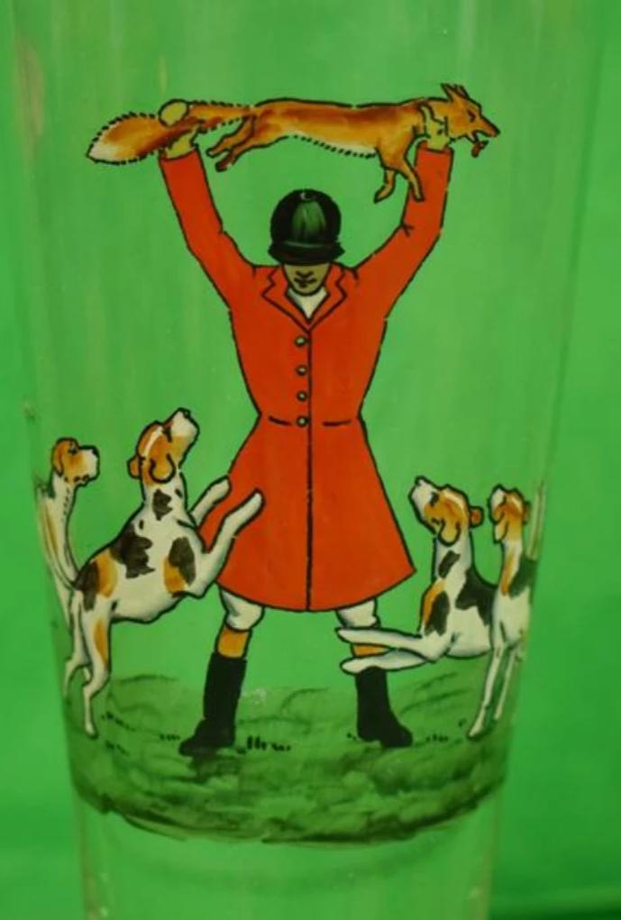 'Abercrombie & Fitch Hand-Painted Fox-Hunt Pilsner Glass' by Cyril Gorainoff