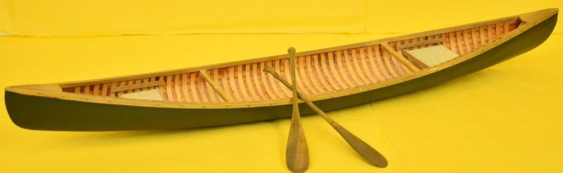 Adirondack Model Canoe w/ Pair of Oars