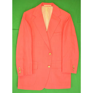 Coral Hopsack Palm Beach Blazer w/ Clipper Ship Scrimshaw Buttons Sz: 40R?