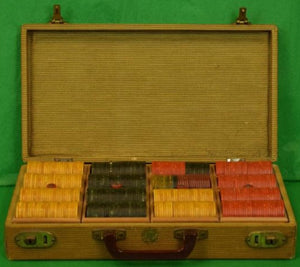 'Vintage Abercrombie & Fitch Bakelite c.1930's Poker Chip Boxed Set'