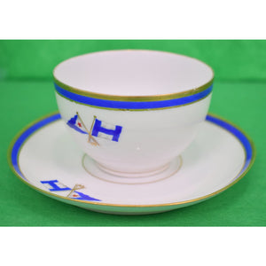 Private Yacht Signal Flags Cup & Saucer Set