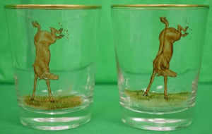 'Set of 12 Frank Vosmansky for Abercrombie & Fitch Equestrian Glasses'