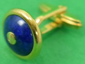 Enamel Lapis Dunhill English Gent's T-Back Cufflinks