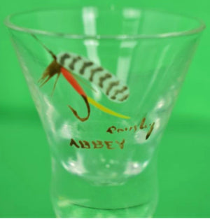 'Set of 4 Hand-Painted Trout Fly Shot Glasses'