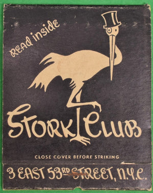 Oversize Stork Club Nyc c40s Matchbook