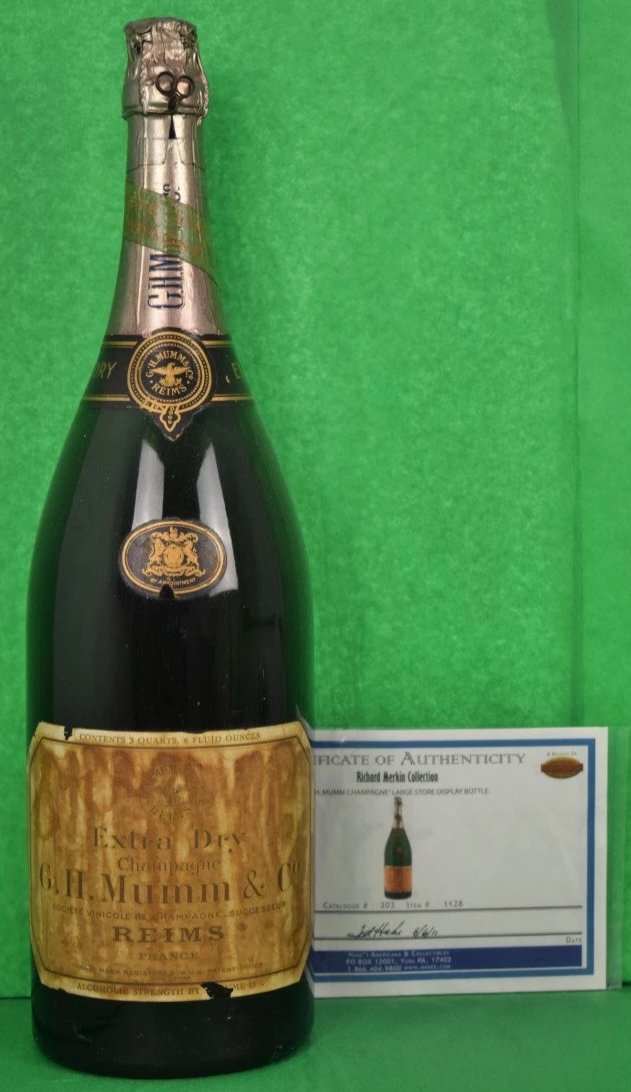 G.H Mumm Champagne Lg Store Display Bottle