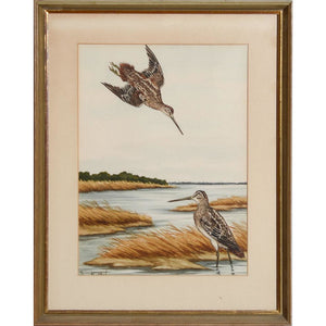 Sandpipers at the Shore Watercolour by Jean Herblet from the CZ Guest estate