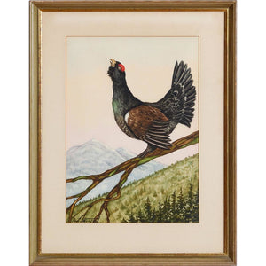 Grouse Watercolour by Jean Herblet from the CZ Guest estate