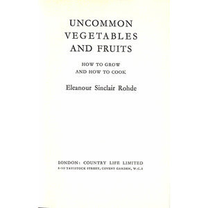 Uncommon Vegetables and Fruits
