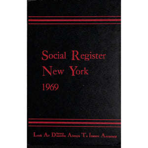Social Register New York 1969