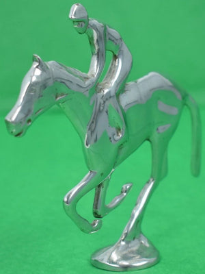 Art Deco Chrome c30s Jockey on Racehorse
