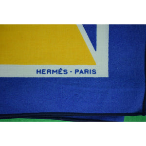 Pair of Hermes Cotton Nautical Placemats & Napkins Boxed Set