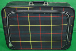 Tartan Canvas Zip-Lid Suitcase