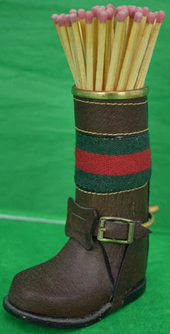 Gucci Leather Boot Matchstick Holder
