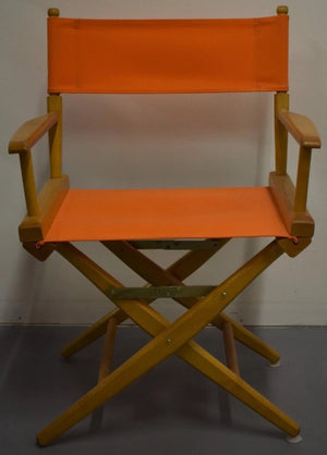 Set of 2 Hermes Orange Canvas Director's Chairs