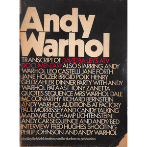 Andy Warhol Transcript Of David Bailey's ATV Documentary