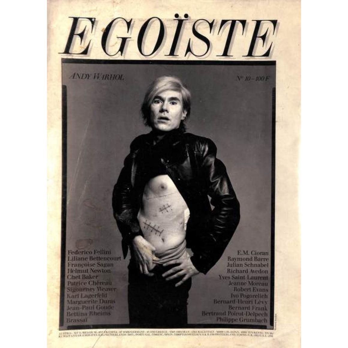 """Egoiste Andy Warhol No. 10"" Photography by Richard Avedon"