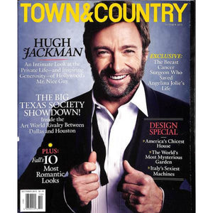 """Town & Country"" Oct 2013 w/ Hugh Jackman Cover"