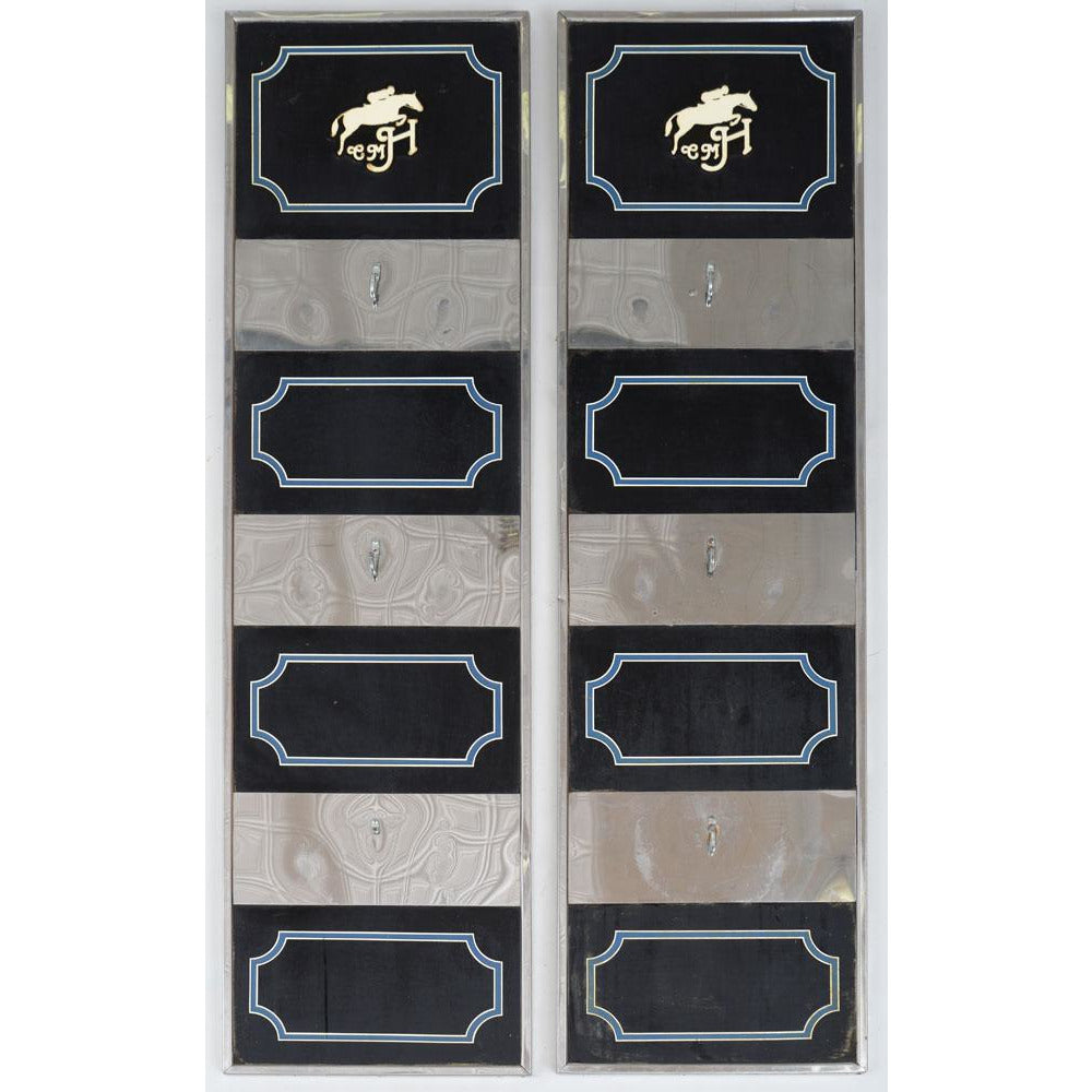 Pair of Chrome-Mounted Tack Boards, from the Stables at CZ Guest's Templeton