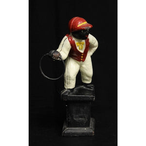 Cast Jockey Doorstop