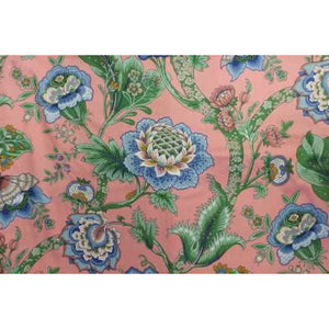 Azyade 1974 Fabric w/ Leaf Green and French Blue Floral Pattern
