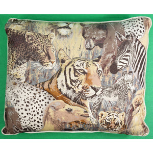 Safari Big Game Pillow