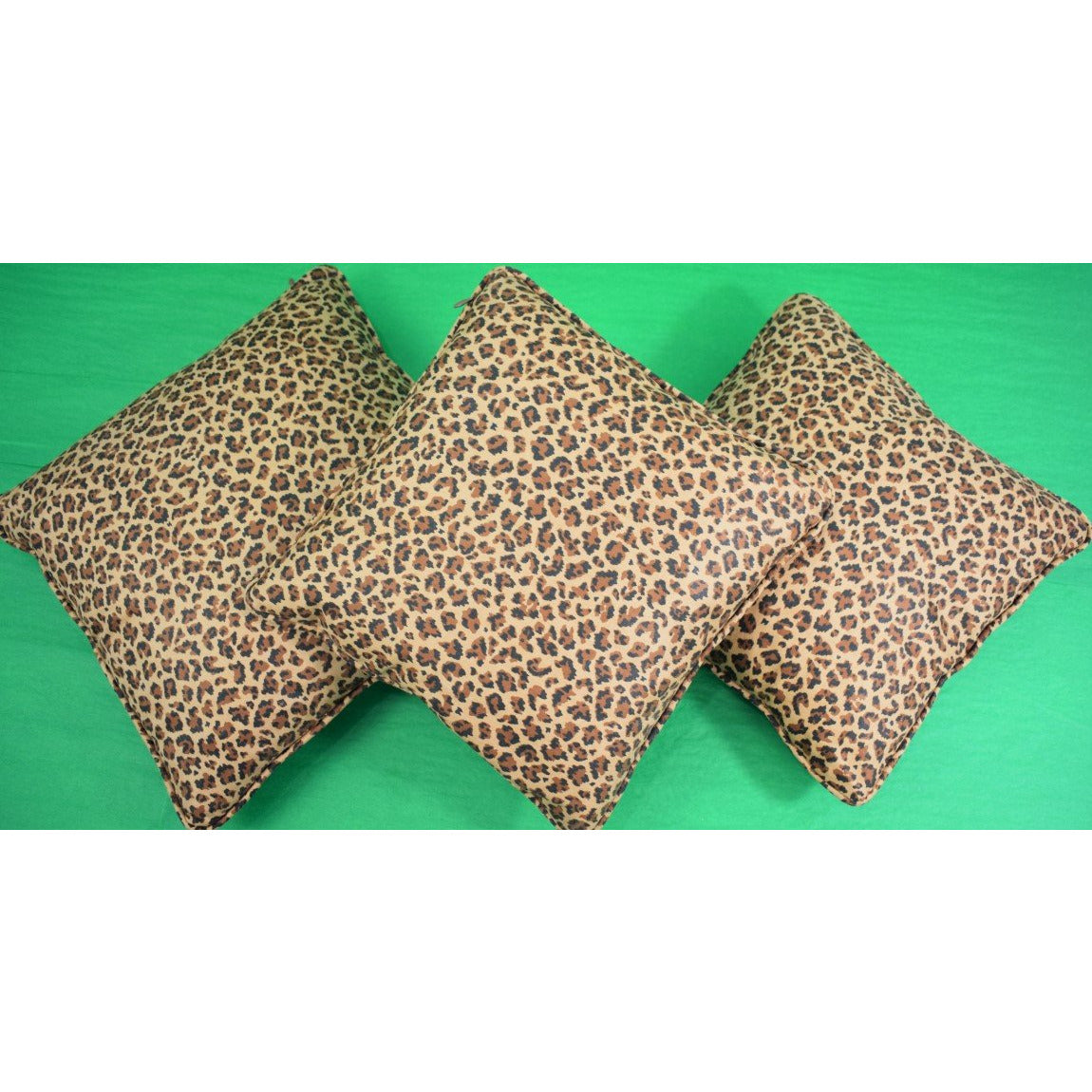 Set of 3 Leopard Print Pillows