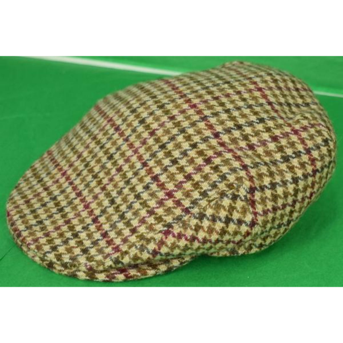 'W Bill Ltd. Bond Street Glen/ Gun Check Tweed Cap'