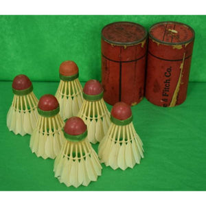 Abercrombie & Fitch Set of 6 English Shuttlecocks in Canister
