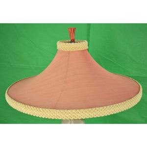 Reglor of Calif Chalkware Glam Lamp w/ Fab Pagoda Shade & Coral Finial