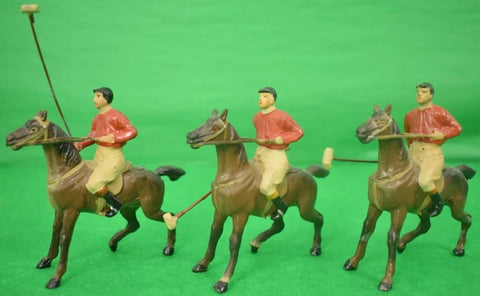 Set of 7 Viennese Bronze Polo Players