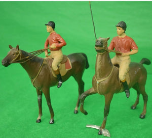 Rare Set of (7) Heyde (Germany) Lead Polo Players c1928