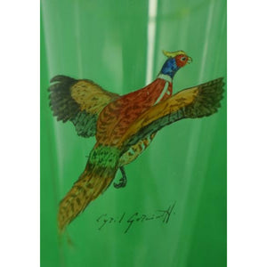 'Set of 5 Cyril Gorainoff Gamebird Pilsner Glasses'